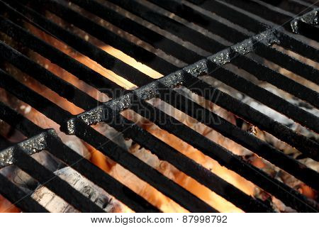 Empty Hot Barbeque Grill