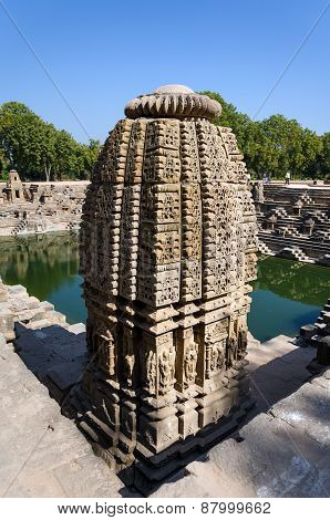 Vintage Crafted Designs On Rocks At Sun Temple Modhera, Ahmedabad