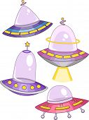 foto of starship  - Illustration of Spaceships with Different Colors and Shapes - JPG