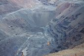 picture of open-pit mine  - General view to the iron ore opencast mining pit - JPG