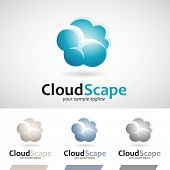 pic of rain cloud  - Blue and Brown Fluffy Rain Cloud Icon Vector Illustration - JPG