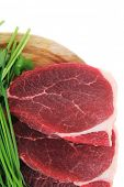 image of wood pieces  - raw meat  - JPG