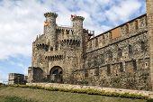picture of templar  - Home or main entrance of Templar castle in Ponferrada the Bierzo Spain - JPG