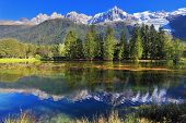 foto of snow capped mountains  - Mountain resort of Chamonix - JPG