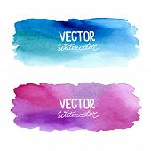 stock photo of ombre  - Watercolor banners - JPG