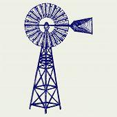 pic of windmills  - Old windmill - JPG