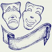 picture of comedy  - Comedy and tragedy theater masks - JPG