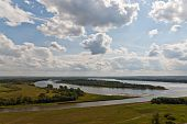picture of kama  - Place of a confluence of the river Tojma to Kama - JPG