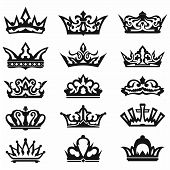 stock photo of crown jewels  - Crown collection - JPG