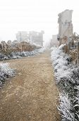 pic of cold-war  - Belchite village destroyed in a bombing during the Spanish Civil War - JPG