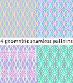 picture of interlocking  - 4 seamless geometric pattern with interlocking elements - JPG
