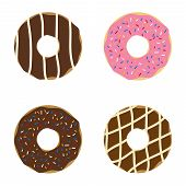 picture of donut  - Set of donuts - JPG