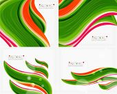 stock photo of solids  - Abstract realistic solid wave background - JPG