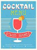 foto of cocktail menu  - Vintage Cocktail menu card design for club - JPG
