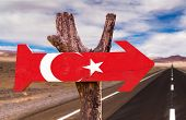 pic of mesopotamia  - Turkey Flag wooden sign with road background - JPG