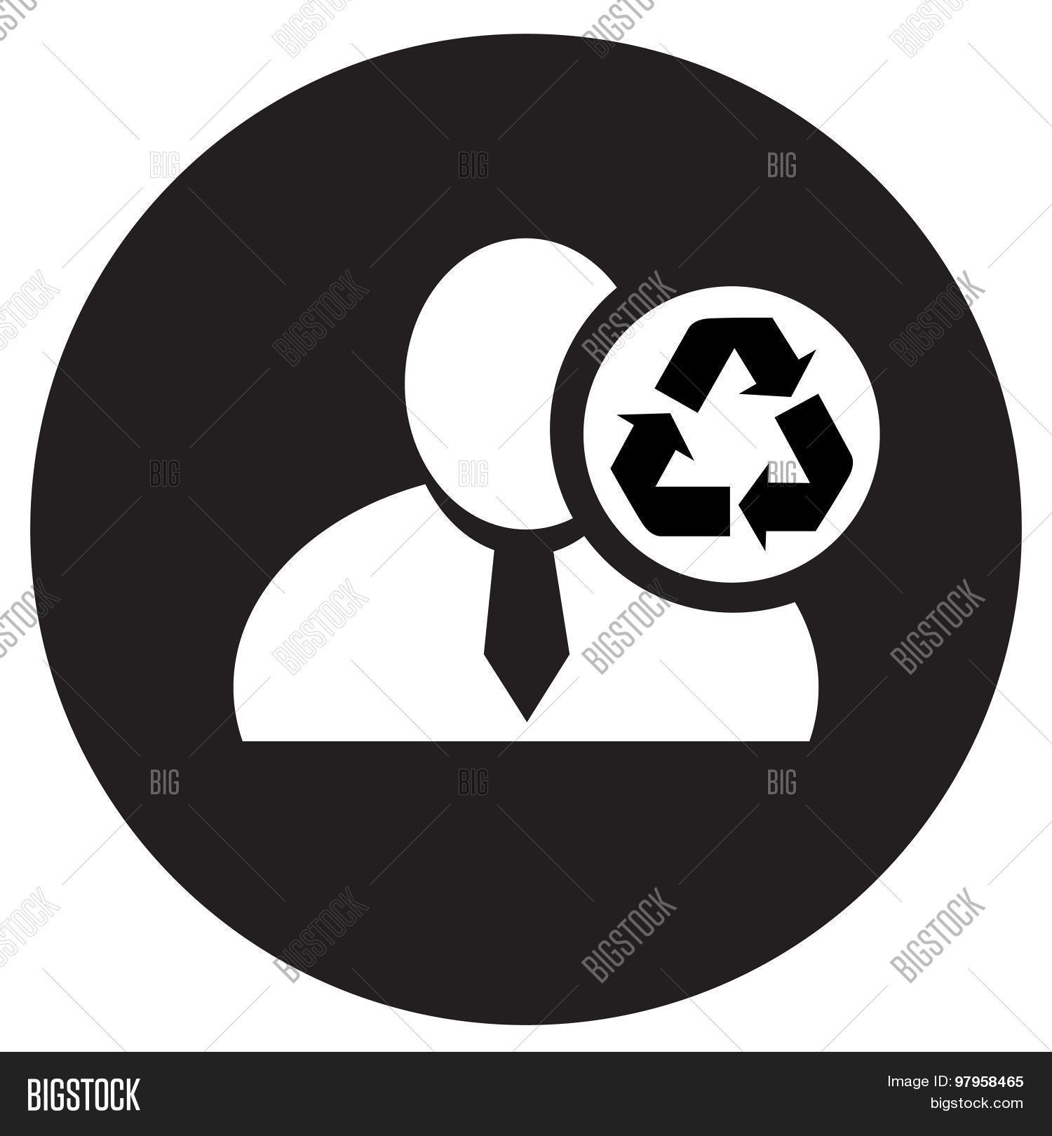White man silhouette icon recycle vector photo bigstock white man silhouette icon with recycle symbol in an information circle flat design icon in buycottarizona Choice Image