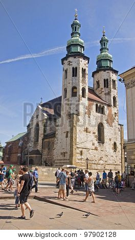 Krakow, Poland - August 1, 2015: St Peter And Paul Church On 1 A