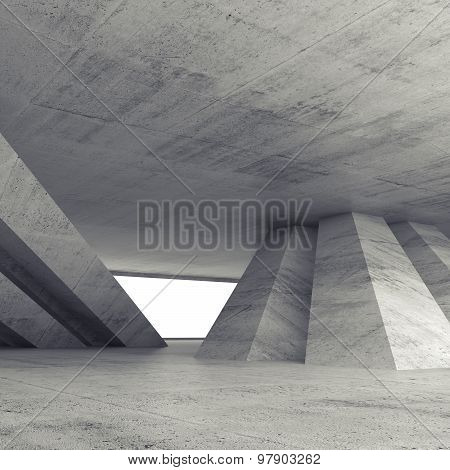 Abstract Square Empty Concrete Room Interior