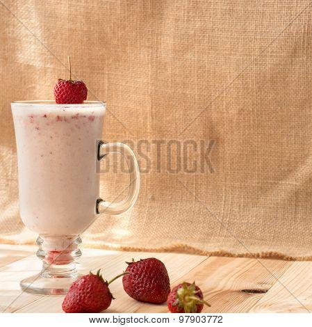Milkshakes With Strawberries