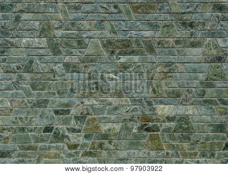 decorative green slate stone wall surface