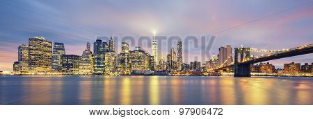 Panoramic View Of Manhattan