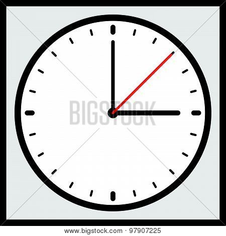 Clock Vector Icon For Time, Appointment, Accuracy Concepts.