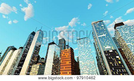 Blue Sky Over The Big City.