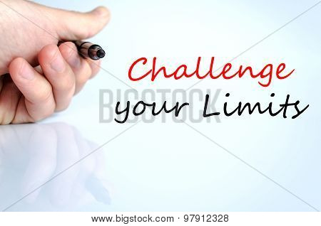 Challenge Your Limits Text Concept