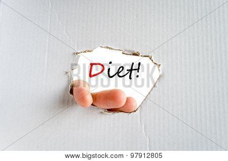 Diet Text Concept