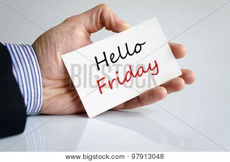 Hello Friday Text Concept