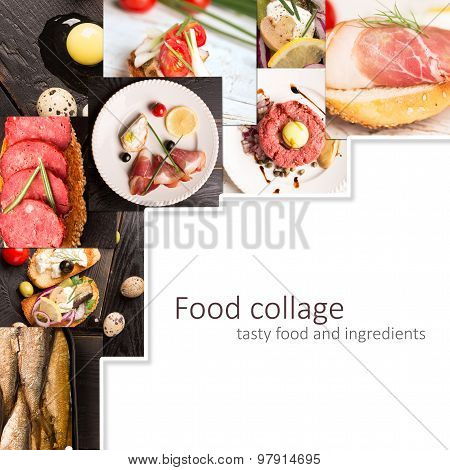 Food Collage (spanish Cuisine)