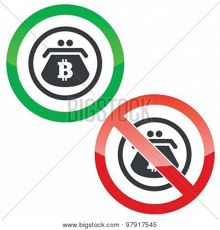 Bitcoin purse permission signs