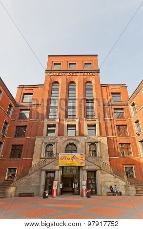 Camera Del Lavoro Building In Milan, Italy