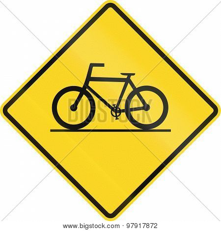 Bicycle Crossing In Canada