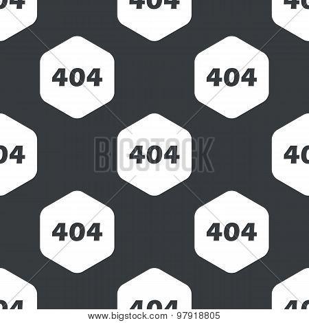 Black hexagon error 404 pattern