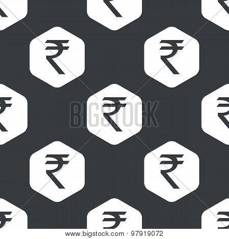 Black hexagon rupee pattern