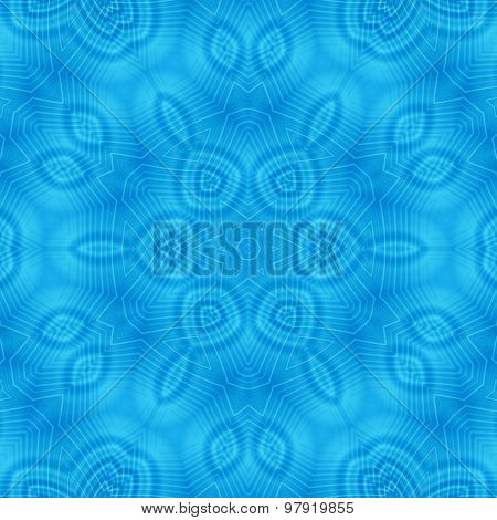 Abstract Concentric Blue Pattern