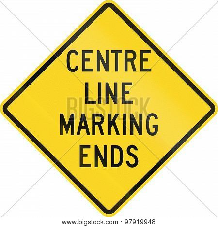 Centre Line Marking Ends In Canada