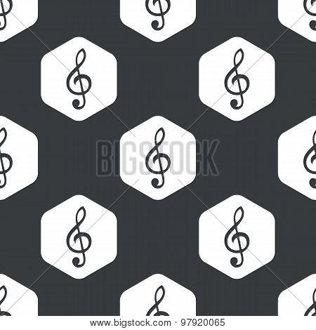 Black hexagon music pattern