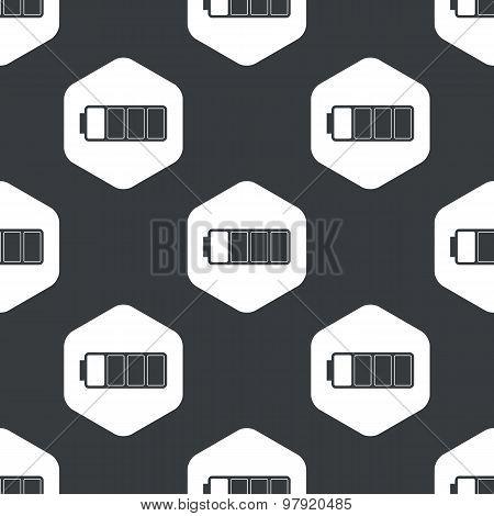 Black hexagon high battery pattern