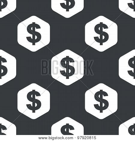 Black hexagon dollar pattern