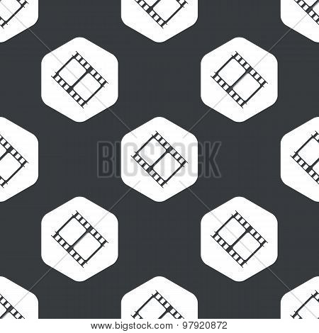 Black hexagon film strip pattern