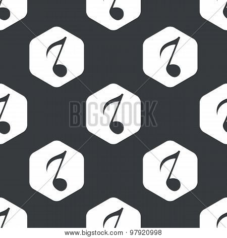 Black hexagon music pattern 3