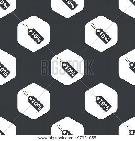 Black hexagon discount pattern