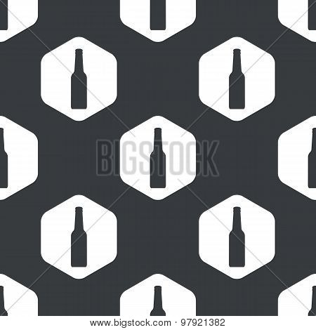 Black hexagon alcohol bottle pattern