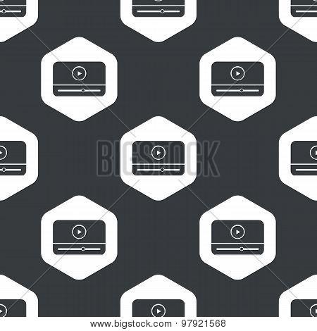 Black hexagon mediaplayer pattern