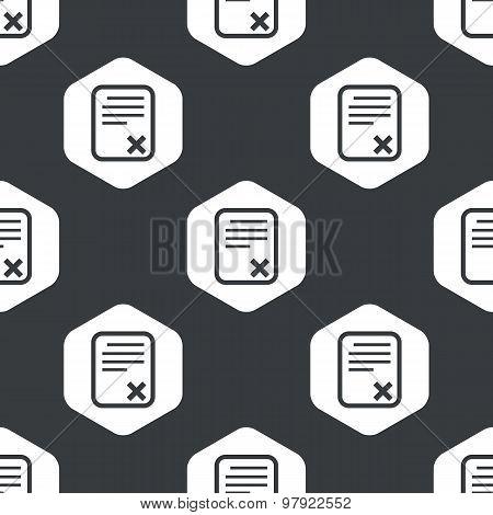 Black hexagon declined document pattern