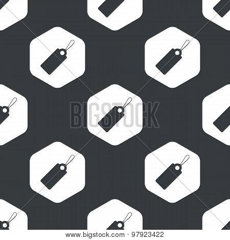 Black hexagon string tag pattern