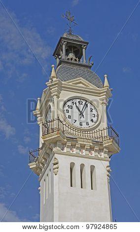 Clock On Port Authority Building. Valencia. Spain