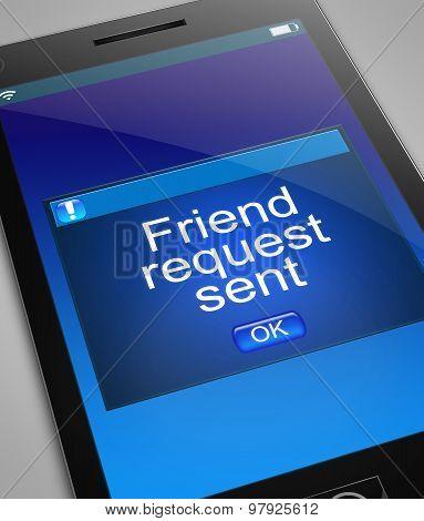 Friend Request Concept.